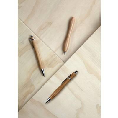 Bambuskugelschreiber Aleuten-braun-blaue Mine
