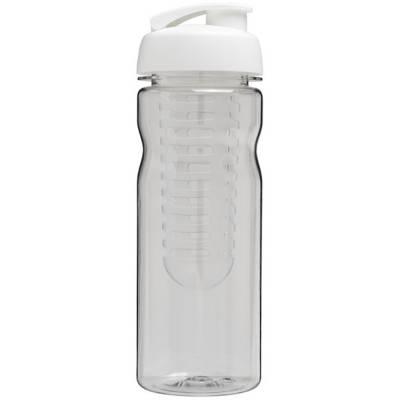 Base Tritan? 650 ml Flasche mit Klappdeckel und Infusor-weiß