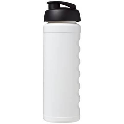 Baseline Plus grip 750 ml Sportflasche mit Klappdeckel-weiß-schwarz