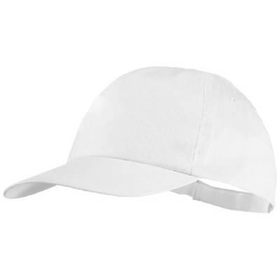 Basic 5 Panel Cotton Cap-weiß-one size