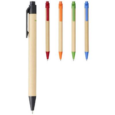 Berk Kugelschreiber aus recyceltem Karton und Mais-blau-schwarze Mine