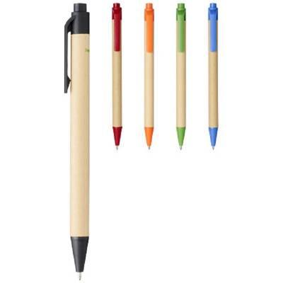 Berk Kugelschreiber aus recyceltem Karton und Mais-grün-schwarze Mine