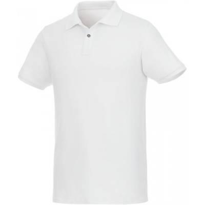 Beryl Kurzarm Poloshirt für Herren aus Bio-Recyclingmaterial-weiß-XS
