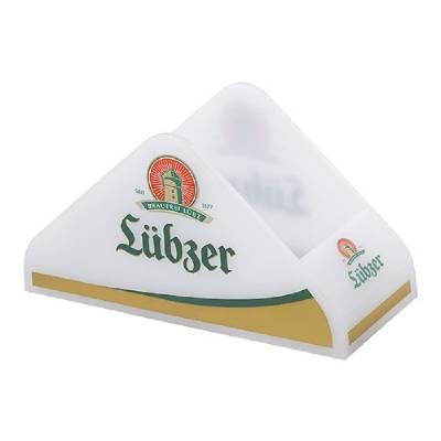Bierdeckel-Ständer Hill-weiß