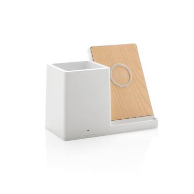 Birch 5W Wireless Charger und Stiftehalter