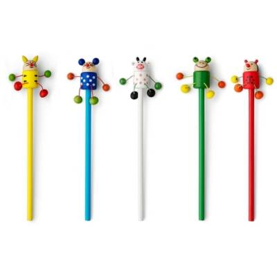 Bleistift, Tiger, Marienkäfer, Maus, Frosch, Kuh, Mix-Fremdlager-transparent