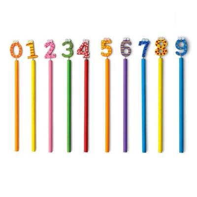 Bleistift, Ziffern von 0 bis 9, Mix