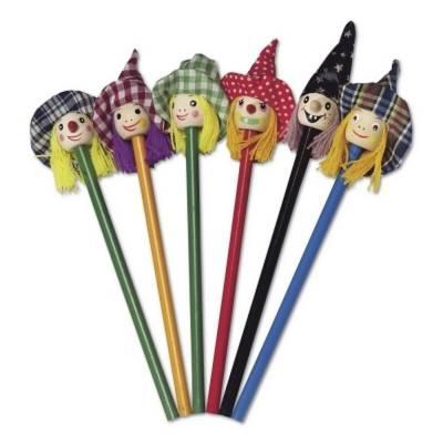 Bleistift-Set Hexen, 6 St.-Fremdlager-mehrfarbig