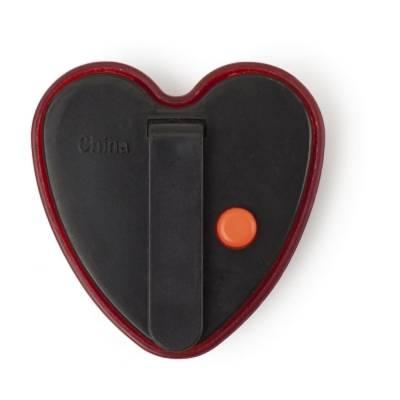Blinklicht Herz mit Clip-rot