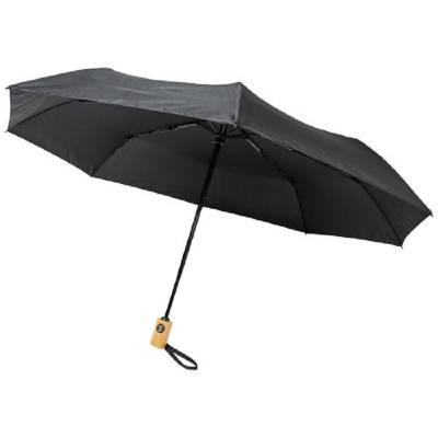 Bo 21 Zoll Vollautomatik Regenschirm aus recyceltem PET-schwarz