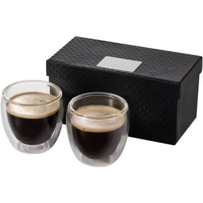 Boda 2 teiliges Espresso Set-transparent