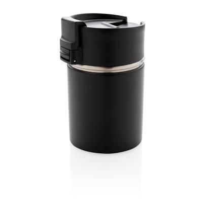 Bogota kompakter Vakuumbecher mit Keramikbeschichtung-schwarz