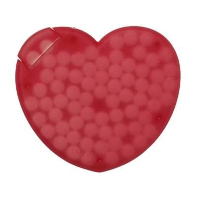 Box Krefeld mit Pfefferminzbonbons in Herz-Form-rot-Pfefferminzpastillen