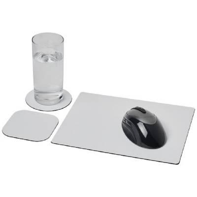 Brite-Mat® Mauspad- und Untersetzer-Set 1-schwarz