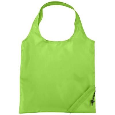 Bungalow faltbare Polyester Einkaufstasche-grün(limettgrün)