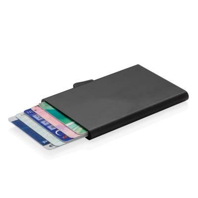 C-Secure Aluminium RFID Kartenhalter-schwarz