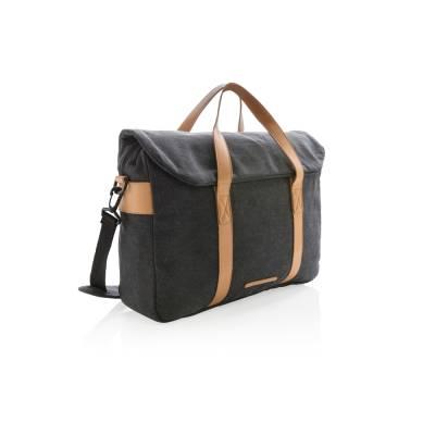 Canvas Laptop-Tasche Vellmar PVC frei-schwarz