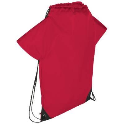 Cheer Sportbeutel in T-Shirt Optik-rot