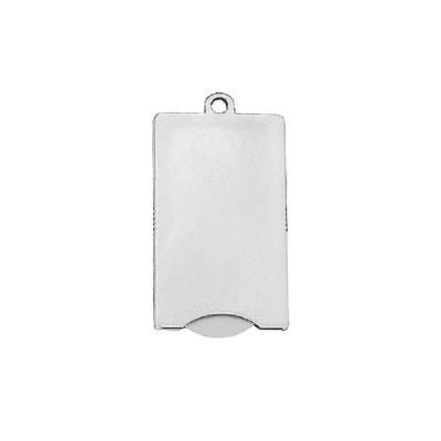 Chip-Schlüsselanhänger Square-weiß