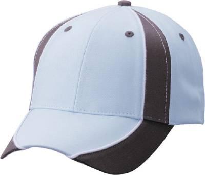 Club Cap-MB135-braun-blau(hellblau)-one size