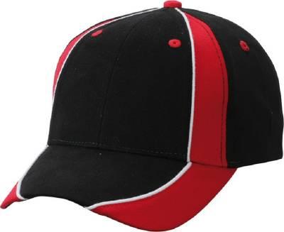 Club Cap-MB135-rot-schwarz-one size