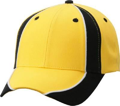 Club Cap-MB135-schwarz-gelb-one size