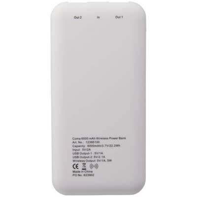 Coma Drahtlose Powerbank-weiß-6000 mAh