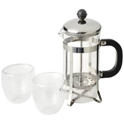 Cooper French Press Set-silber