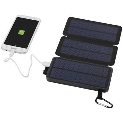 Cosmic Solar-Powerbank mit zwei Solarzellen-schwarz-8000 mAh