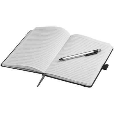 Crown A5 Notizbuch und Stylus Kugelschreiber-schwarz