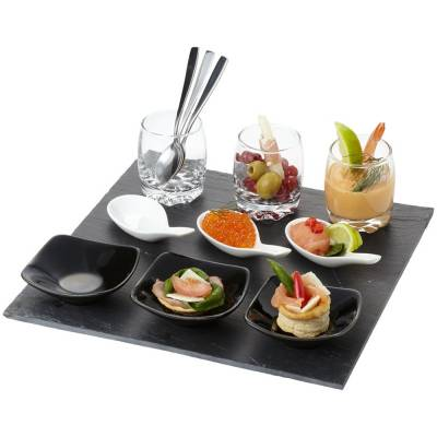Culi 13 teiliges Appetithappen Set-transparent