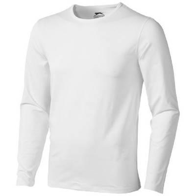 Slazenger Curve Herren T-Shirt Langarm - weiß - XL