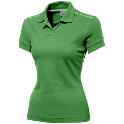 Damen Backhand Polo  - hellgrün - weiß - S