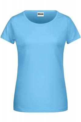 Damen Basic-T 8007-blau(himmelblau)-XXL