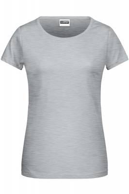 Damen Basic-T 8007-grau(heathergrau)-XL