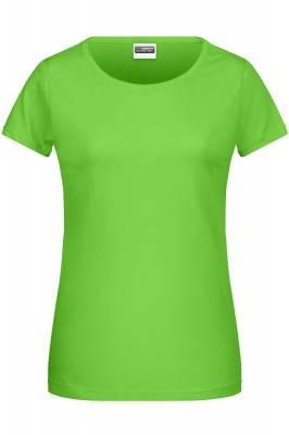 Damen Basic-T 8007-grün(limettgrün)-S