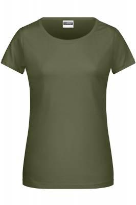 Damen Basic-T 8007-grün(olivgrün)-XL