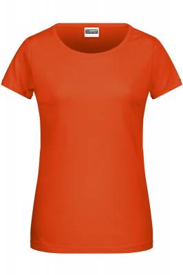 Damen Basic-T 8007-orange-XXL