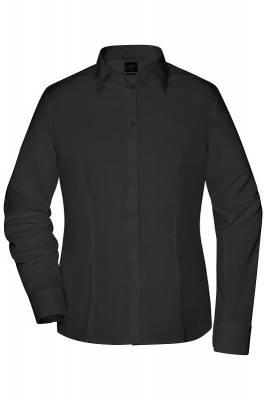 Damen Bluse Slim Fit JN645-schwarz-XS