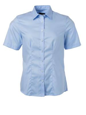 Damen Bluse kurze Ärmel Micro-Twill JN683