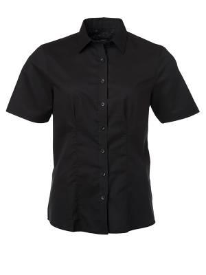 Damen Bluse kurze Ärmel Oxford JN687