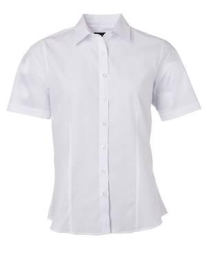 Damen Bluse kurze Ärmel Poplin JN679