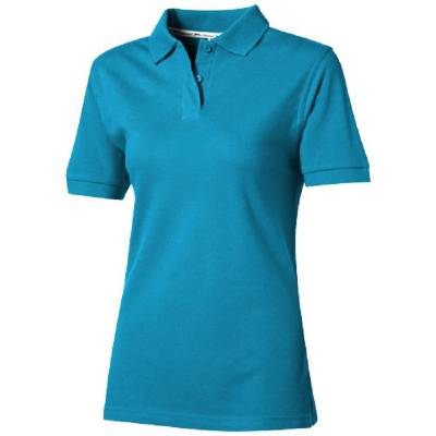 Damen Forehand Polo - aqua - XL