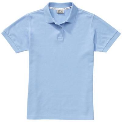 Forehand Damen Kurzarm Poloshirt-blau(hellblau)-L