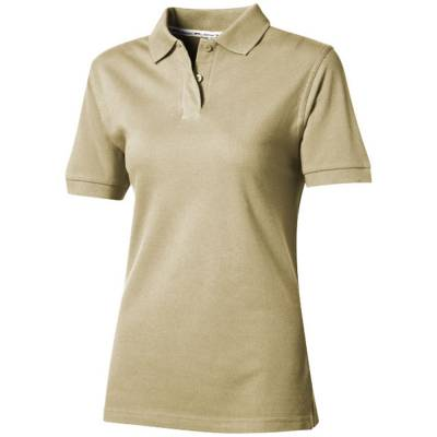 Forehand Damen Kurzarm Poloshirt-braun(khakibraun)-S
