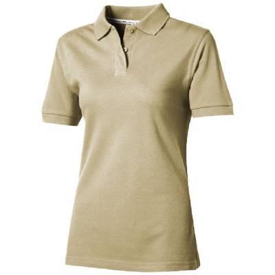 Forehand Damen Kurzarm Poloshirt-braun(khakibraun)-XL