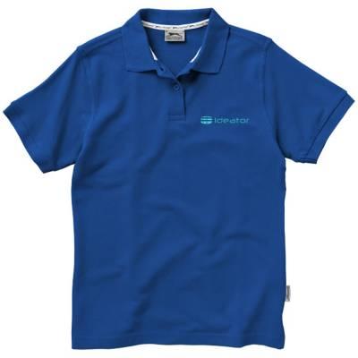 Forehand Damen Kurzarm Poloshirt-blau(royalblau)-S