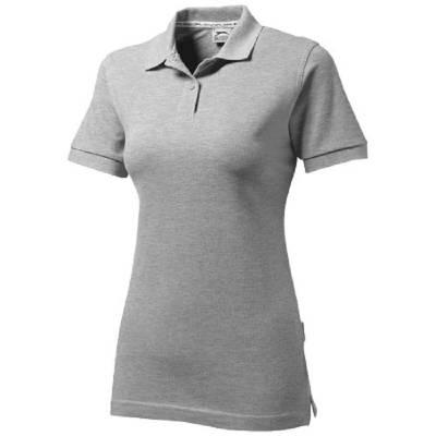 Forehand Damen Kurzarm Poloshirt-grau(sportgrau)-XL