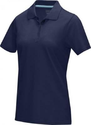 Damen Graphite Poloshirt aus GOTS Bio-Material-blau(navyblau)-XS