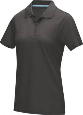 Damen Graphite Poloshirt aus GOTS Bio-Material-grau-XS